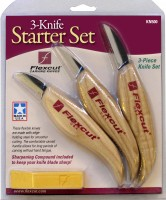 Flexcut KN500 3-Knife Starter Set