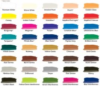 Chroma Airbrush Paint New Color Chart with More Colors Added.