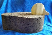 Cork decoy cut out