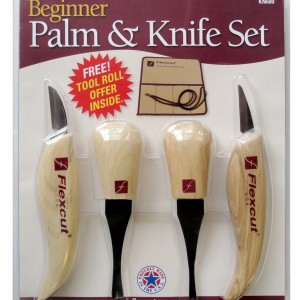 Flexcut KN600 Beginner Palm & Knife Set